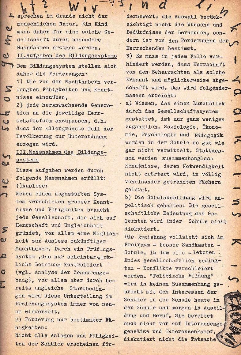 Rote Schule _ ZO der SSG, 1. Jg., 1969, Nr. 1, Seite 9