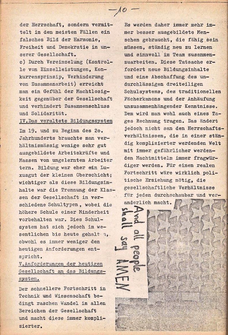 Rote Schule _ ZO der SSG, 1. Jg., 1969, Nr. 1, Seite 10