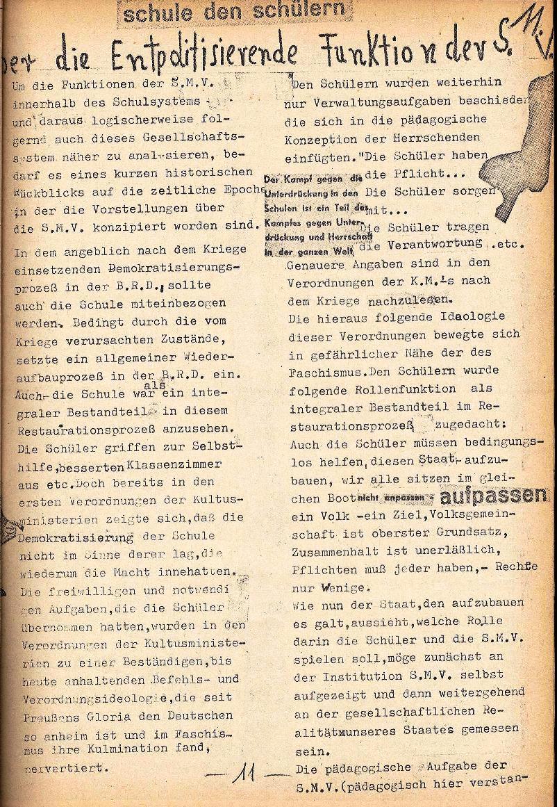 Rote Schule _ ZO der SSG, 1. Jg., 1969, Nr. 1, Seite 11