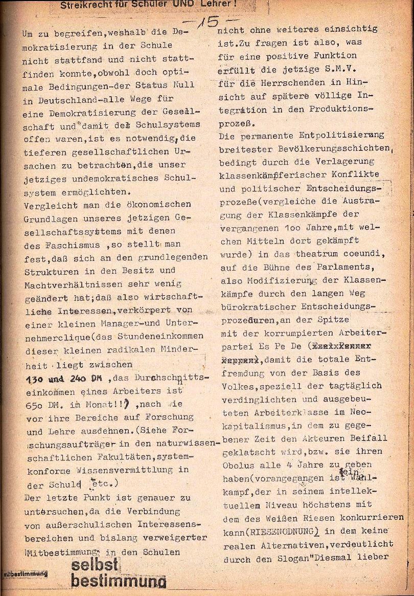 Rote Schule _ ZO der SSG, 1. Jg., 1969, Nr. 1, Seite 15