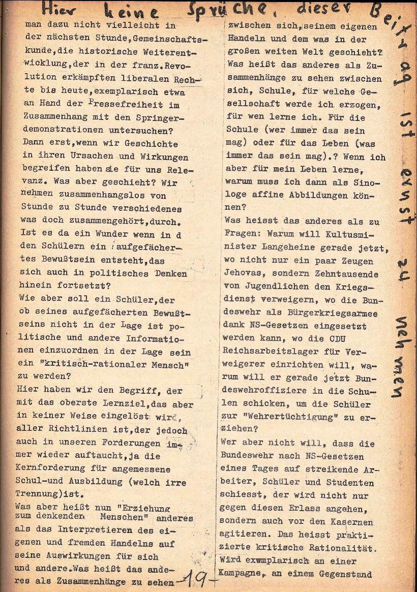 Rote Schule _ ZO der SSG, 1. Jg., 1969, Nr. 1, Seite 19