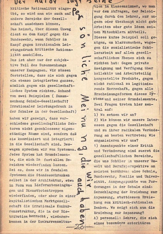 Rote Schule _ ZO der SSG, 1. Jg., 1969, Nr. 1, Seite 20