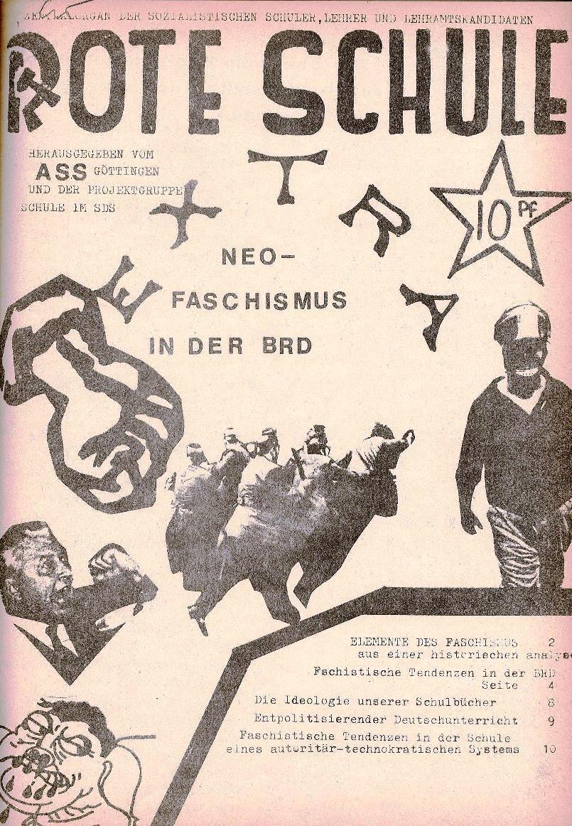 Rote Schule, Extra, Neofaschismus in der BRD (1969), Seite 1