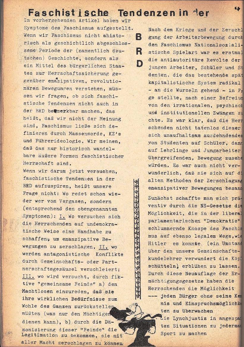 Rote Schule, Extra, Neofaschismus in der BRD (1969), Seite 4