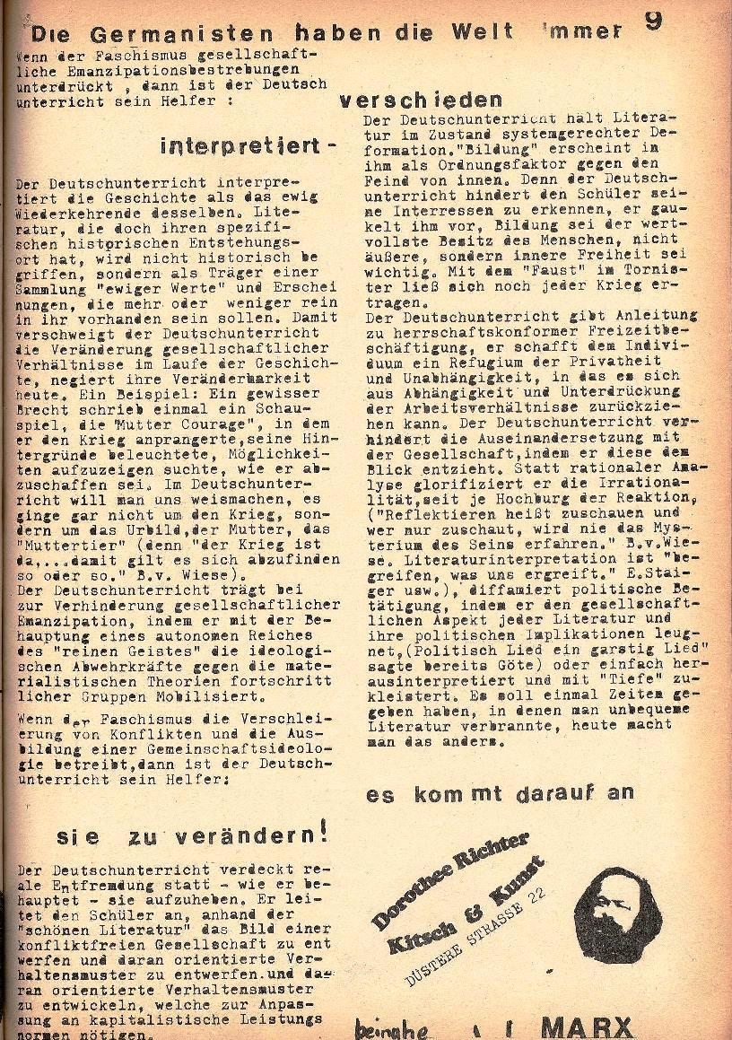 Rote Schule, Extra, Neofaschismus in der BRD (1969), Seite 9