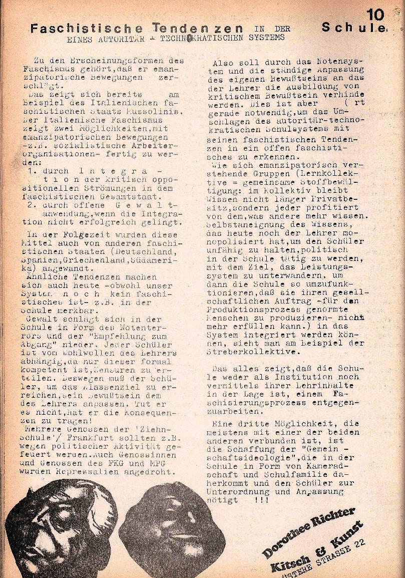 Rote Schule, Extra, Neofaschismus in der BRD (1969), Seite 10