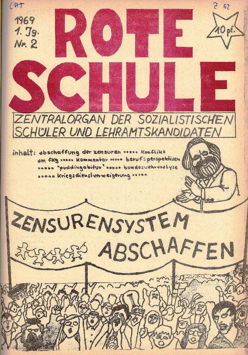 Rote Schule _ ZO der SSG, 1. Jg., 1969, Nr. 2, Seite 1