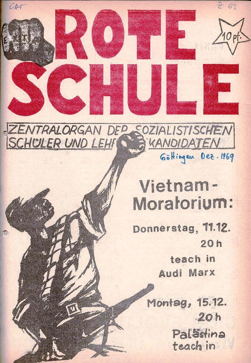 Rote Schule, Extra [Dezember 1969], Seite 1
