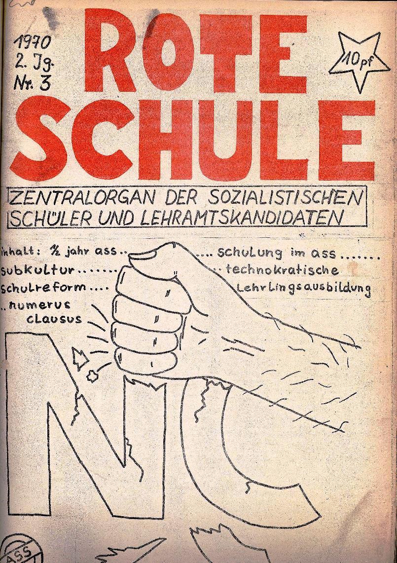 Rote Schule _ ZO der SSG, 2. Jg., 1970, Nr. 3, Seite 1