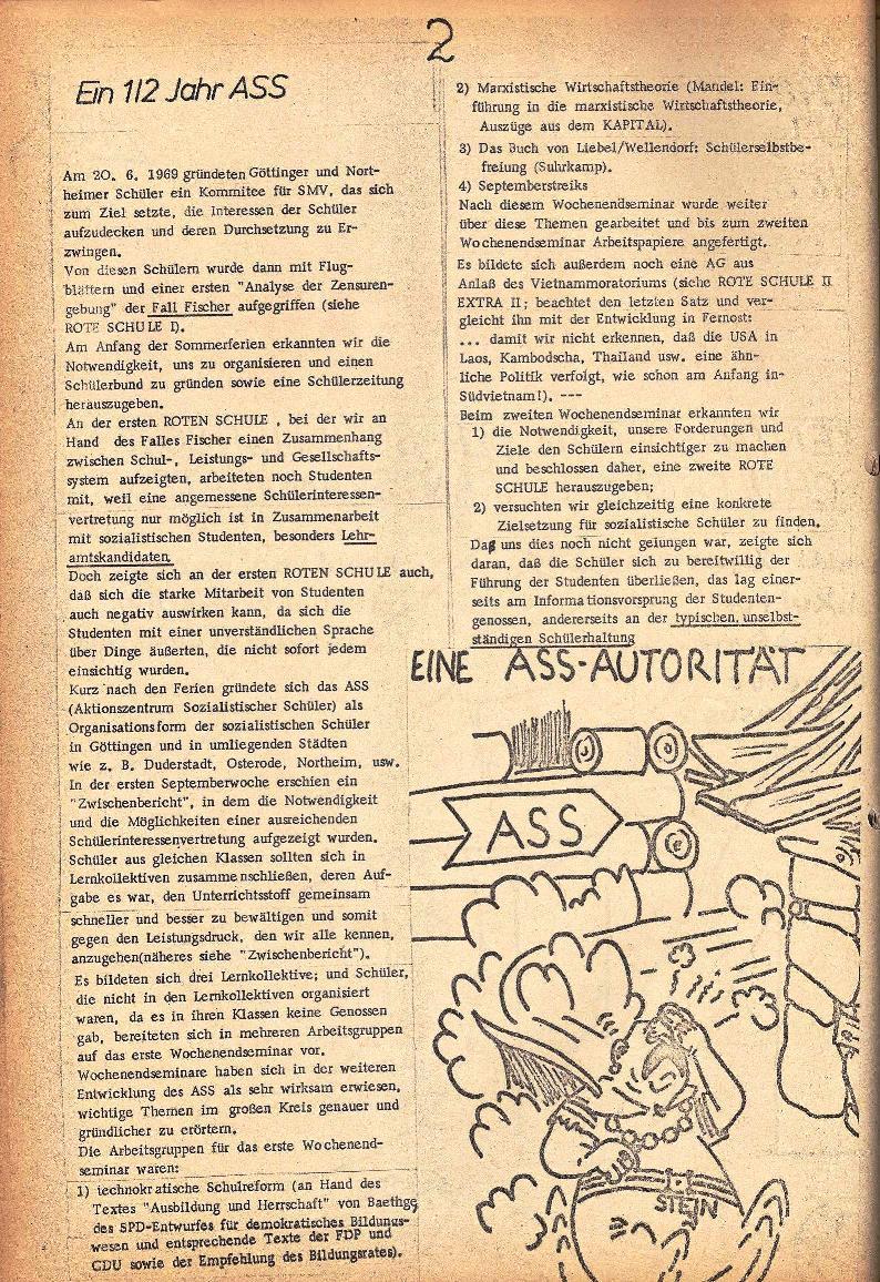 Rote Schule _ ZO der SSG, 2. Jg., 1970, Nr. 3, Seite 2
