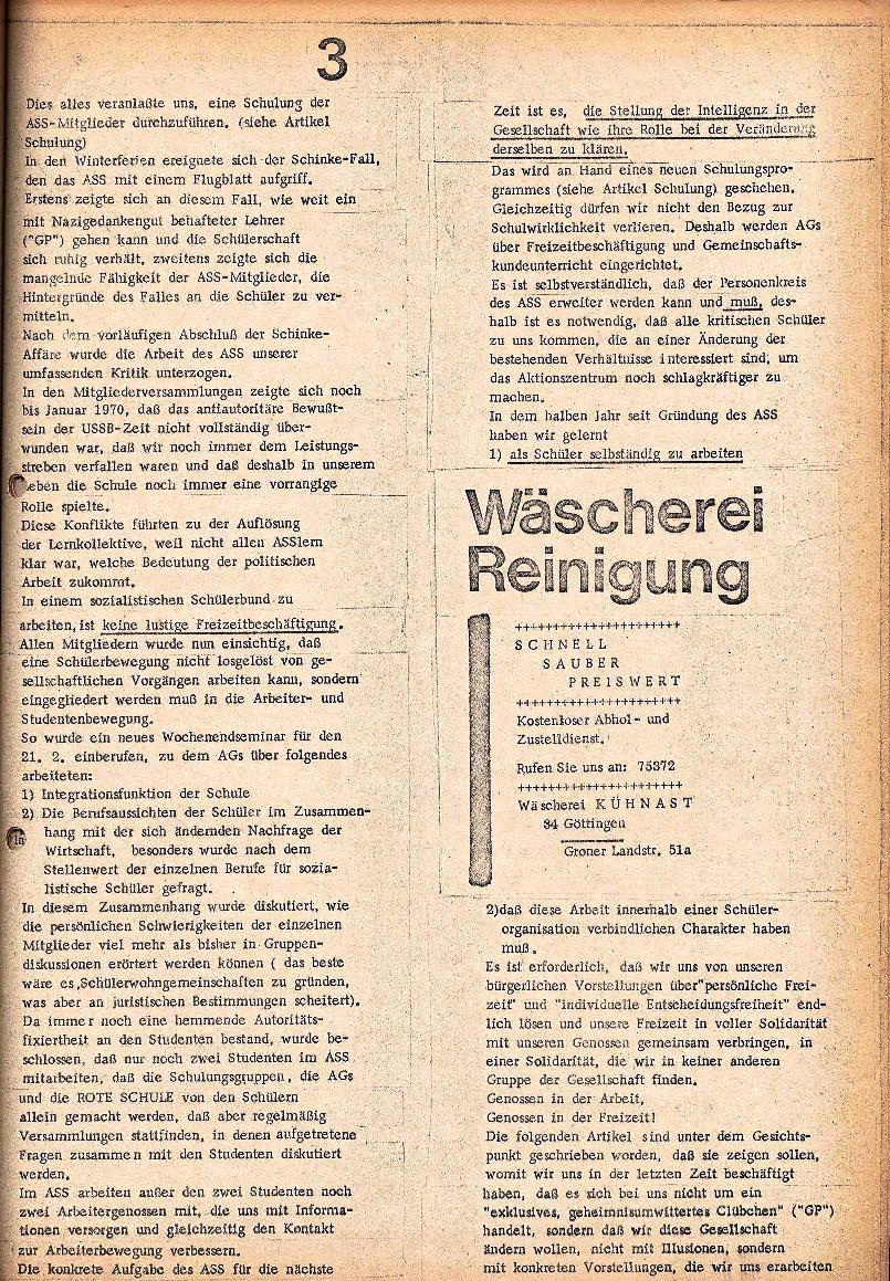 Rote Schule _ ZO der SSG, 2. Jg., 1970, Nr. 3, Seite 3