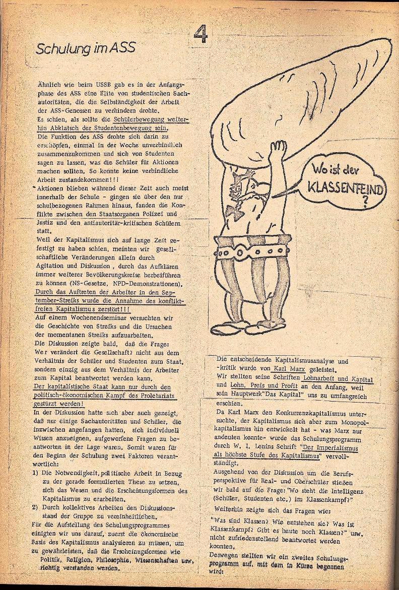Rote Schule _ ZO der SSG, 2. Jg., 1970, Nr. 3, Seite 4