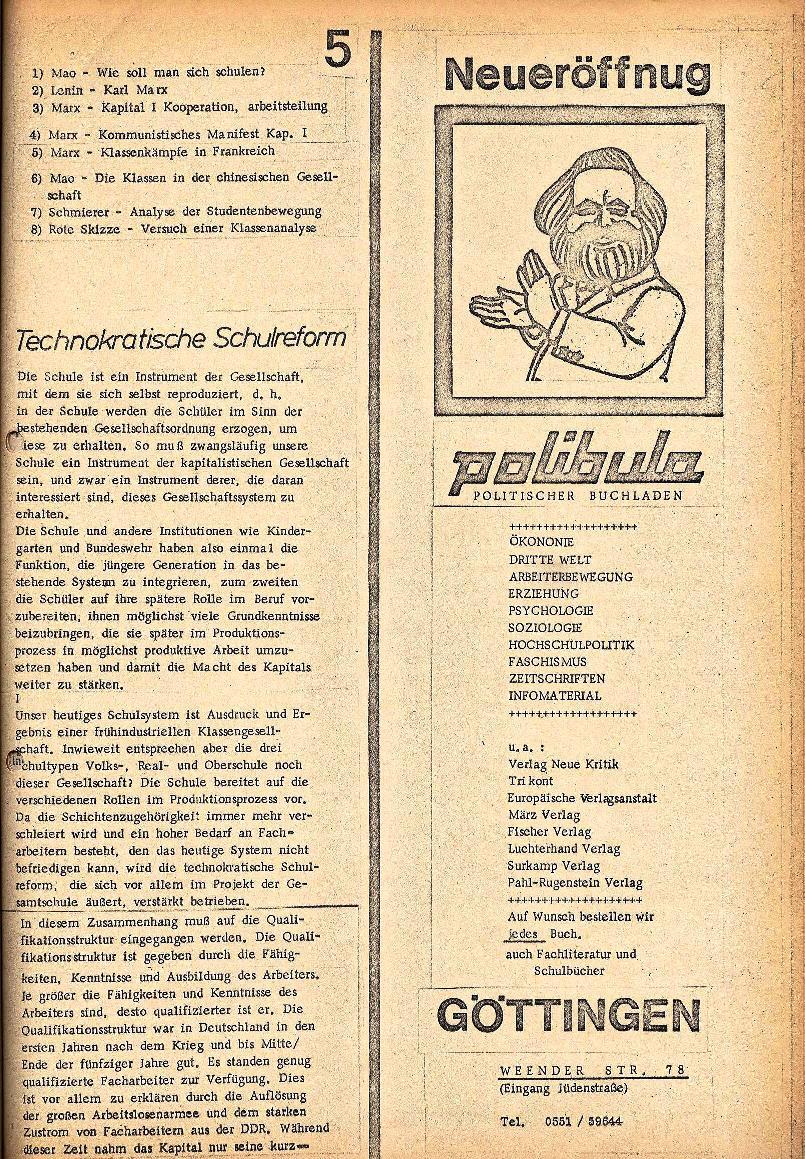 Rote Schule _ ZO der SSG, 2. Jg., 1970, Nr. 3, Seite 5
