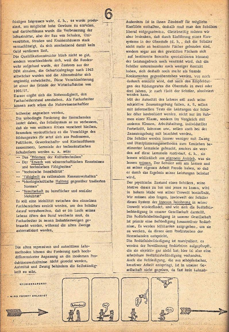 Rote Schule _ ZO der SSG, 2. Jg., 1970, Nr. 3, Seite 6