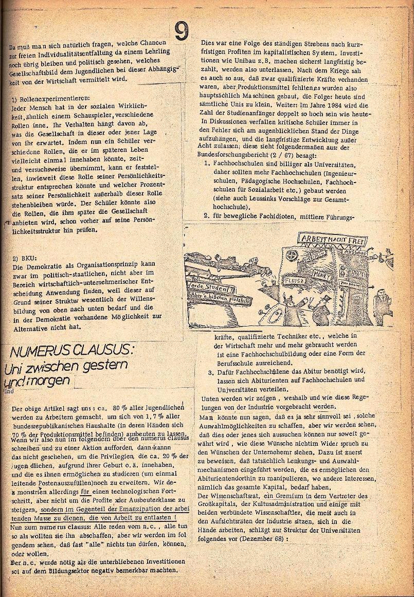 Rote Schule _ ZO der SSG, 2. Jg., 1970, Nr. 3, Seite 9