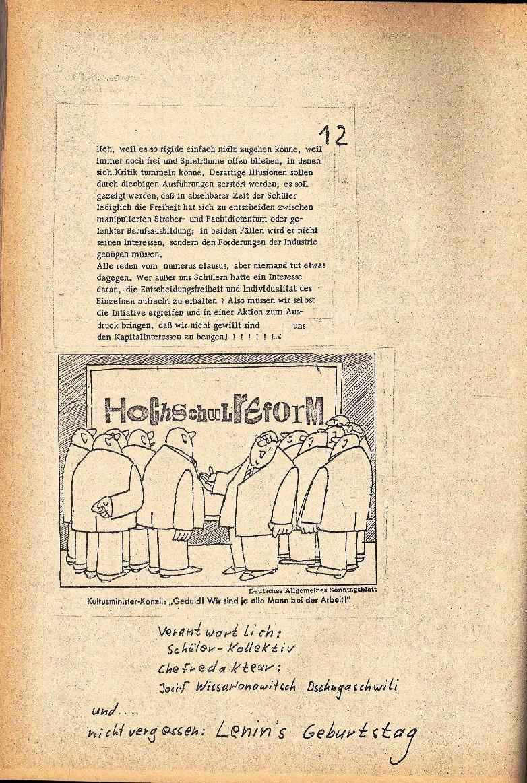 Rote Schule _ ZO der SSG, 2. Jg., 1970, Nr. 3, Seite 12