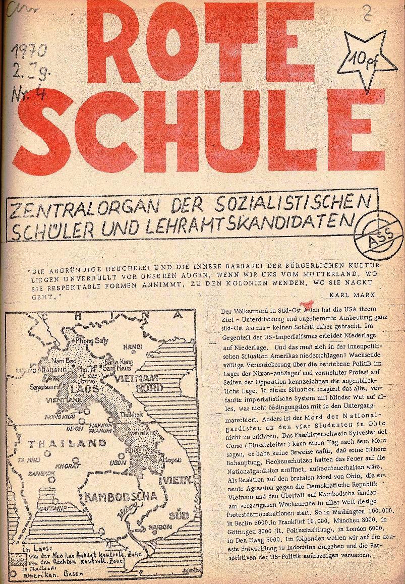 Rote Schule _ ZO der SSG, 2. Jg., 1970, Nr. 4, Seite 1