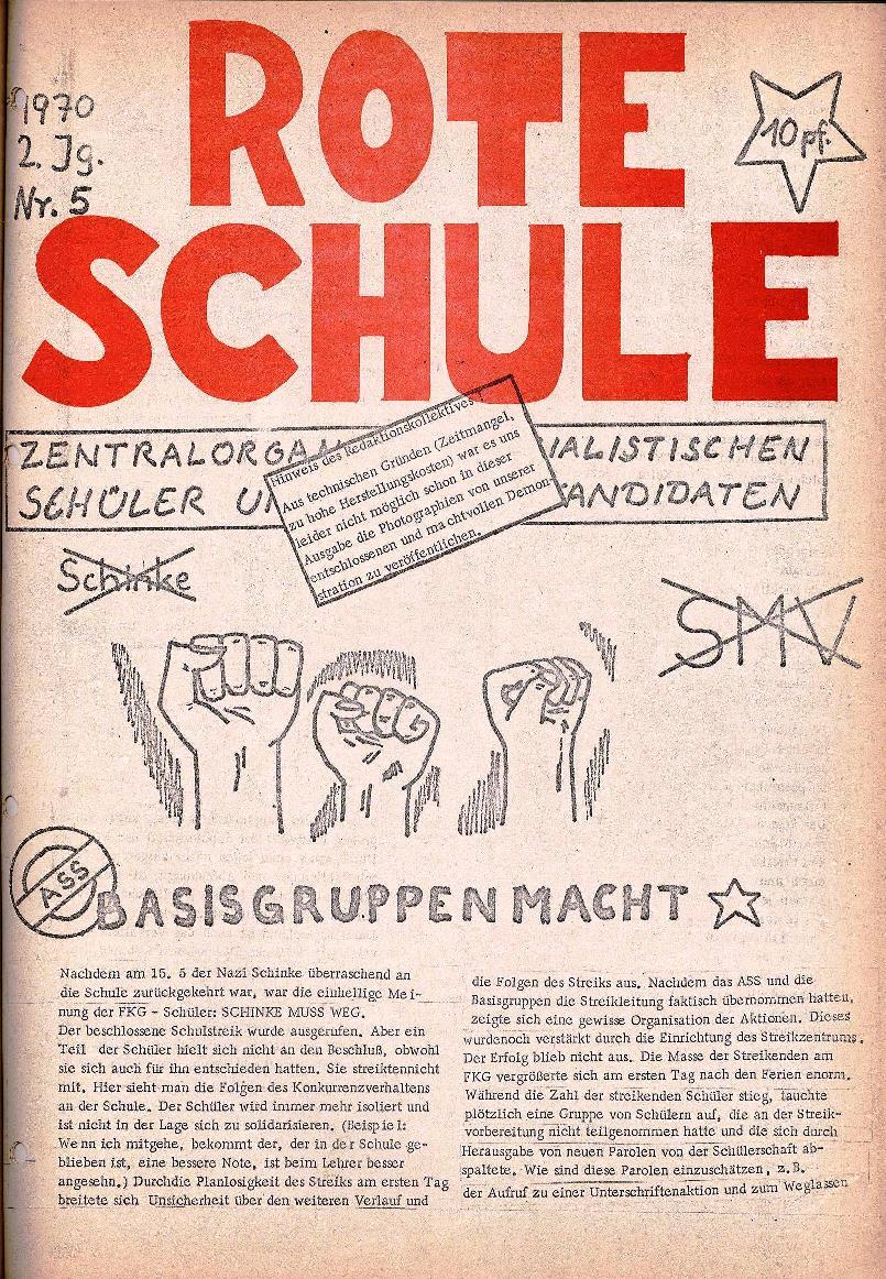 Rote Schule _ ZO der SSG, 2. Jg., 1970, Nr. 5, Seite 1