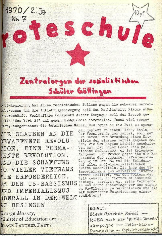 Rote Schule _ ZO der SSG, 2. Jg., 1970, Nr. 7, Seite 1