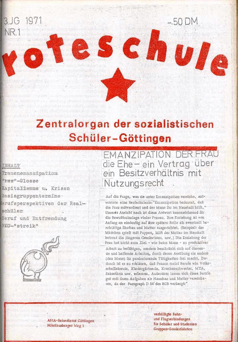 Rote Schule _ ZO der SSG, 3. Jg., 1971, Nr. 1, Seite 1