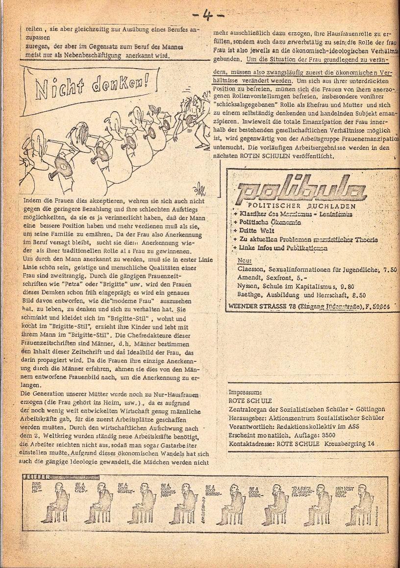 Rote Schule _ ZO der SSG, 3. Jg., 1971, Nr. 1, Seite 4