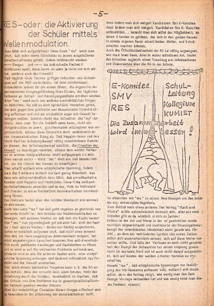 Rote Schule _ ZO der SSG, 3. Jg., 1971, Nr. 1, Seite 5
