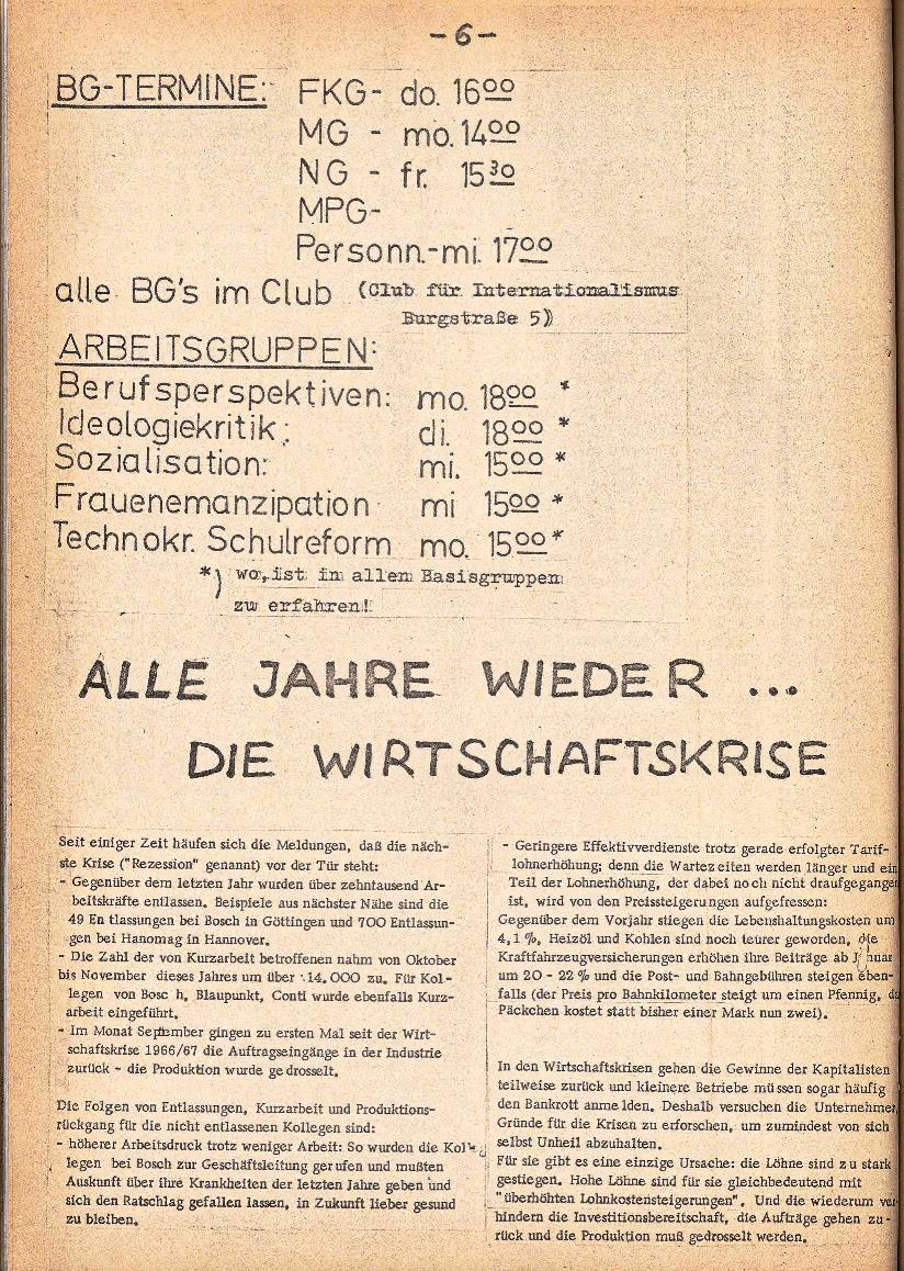 Rote Schule _ ZO der SSG, 3. Jg., 1971, Nr. 1, Seite 6