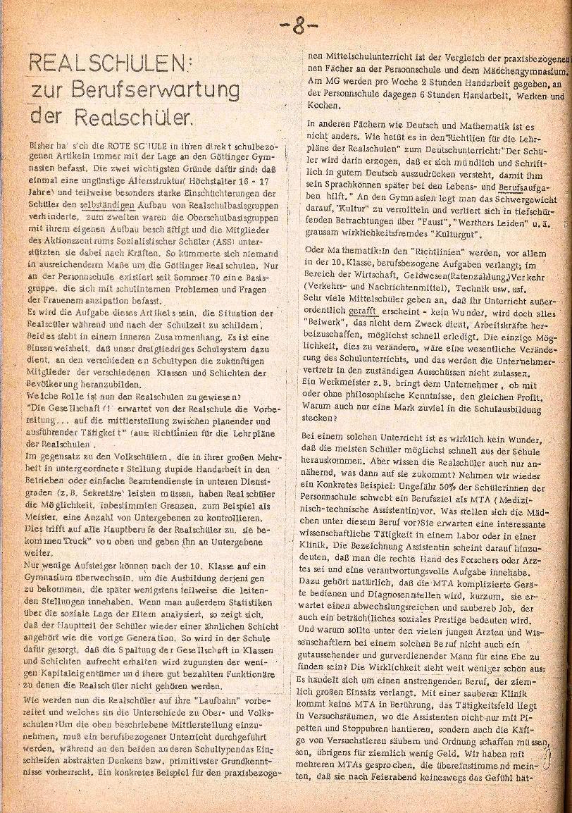 Rote Schule _ ZO der SSG, 3. Jg., 1971, Nr. 1, Seite 8