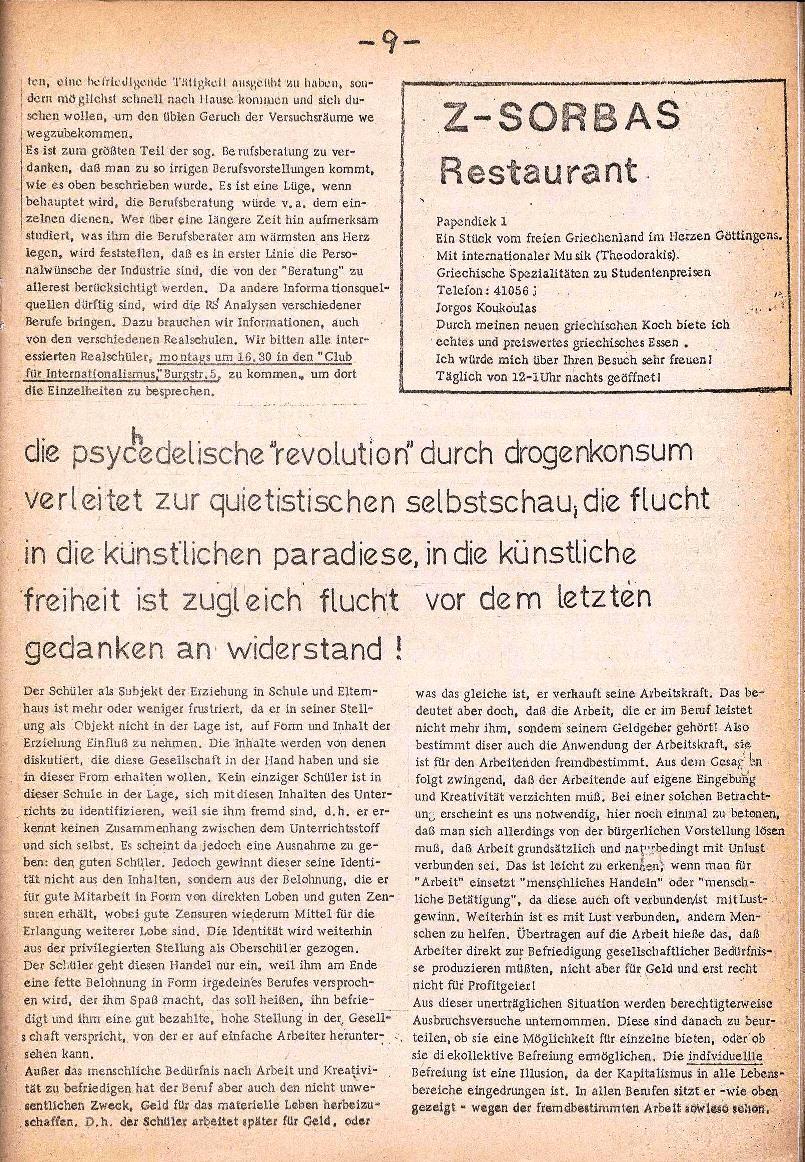 Rote Schule _ ZO der SSG, 3. Jg., 1971, Nr. 1, Seite 9