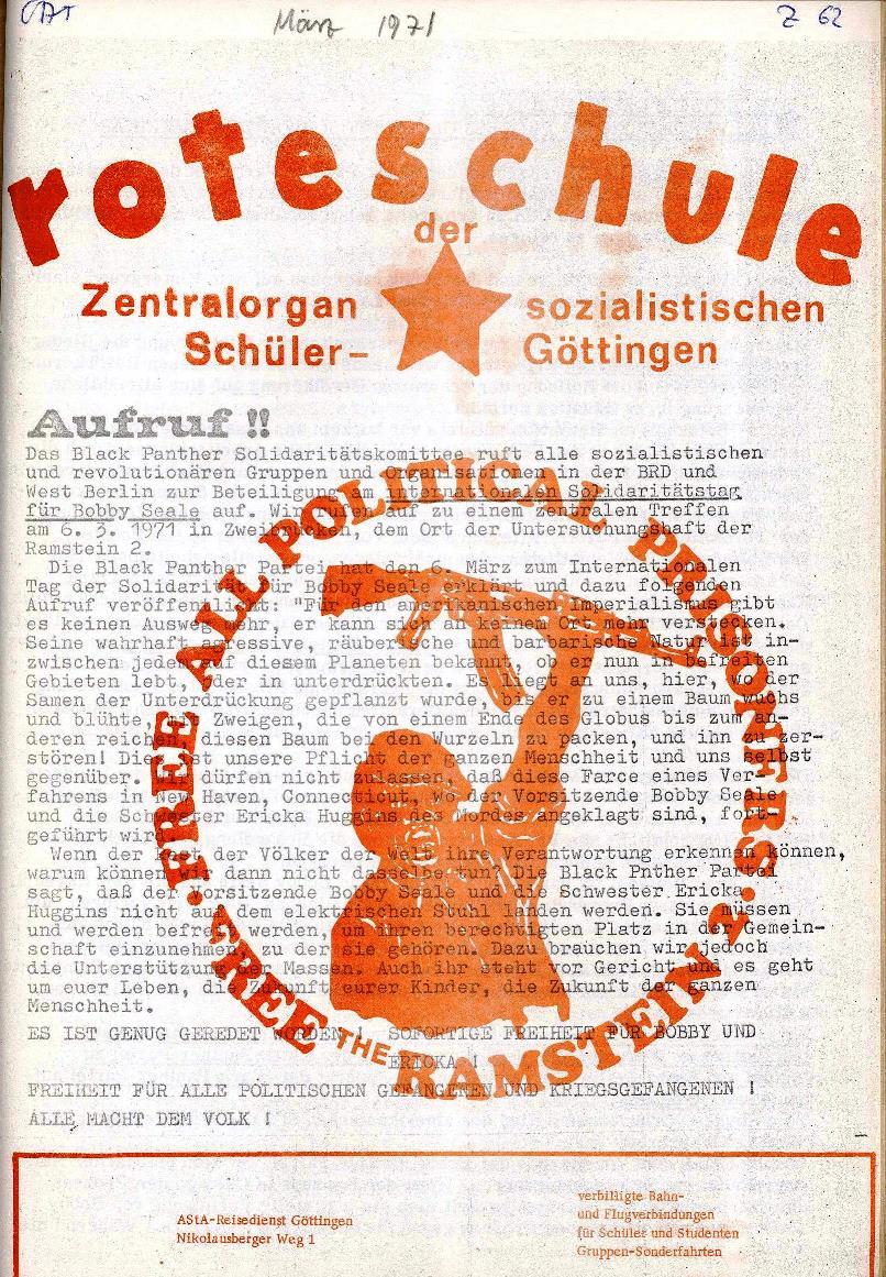 Rote Schule _ ZO der SSG, Extra [März 1971], Seite 1