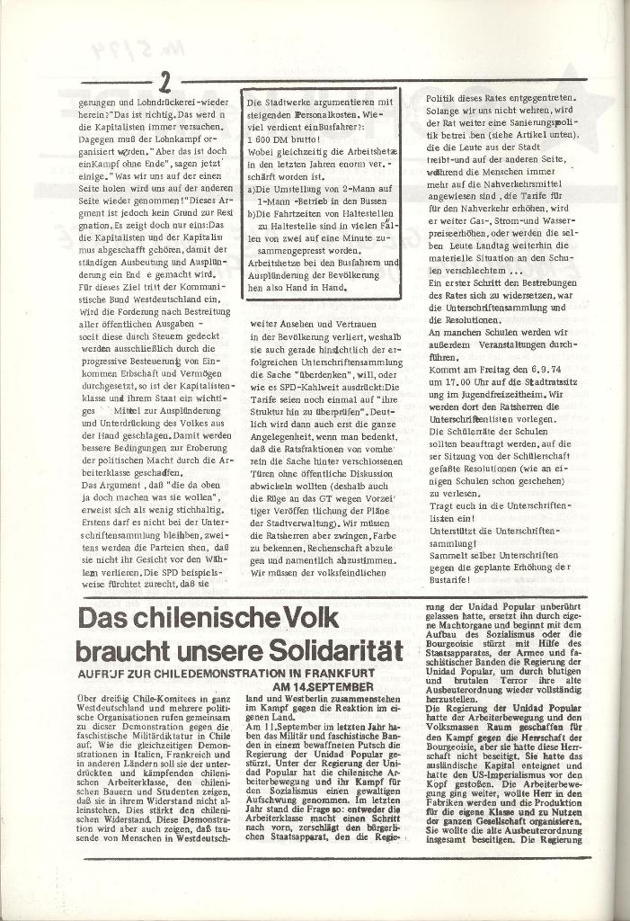 Organ des KOB Göttingen, Nr. 5, 1974, Seite 2