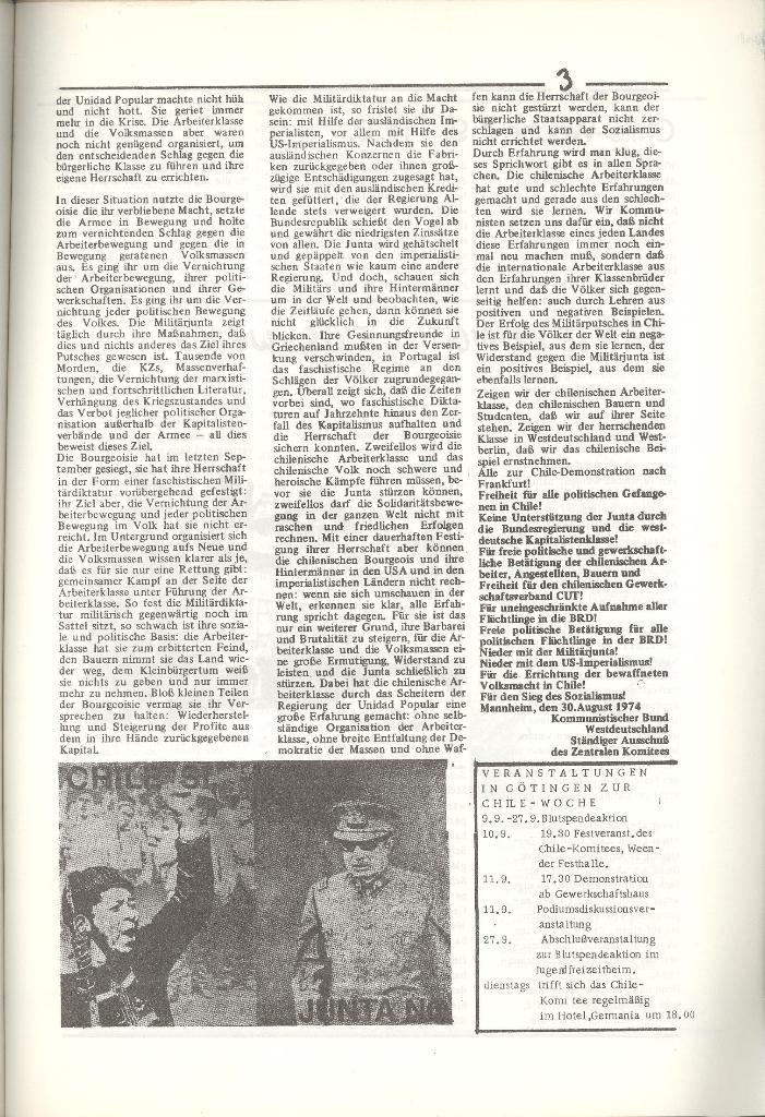 Organ des KOB Göttingen, Nr. 5, 1974, Seite 3