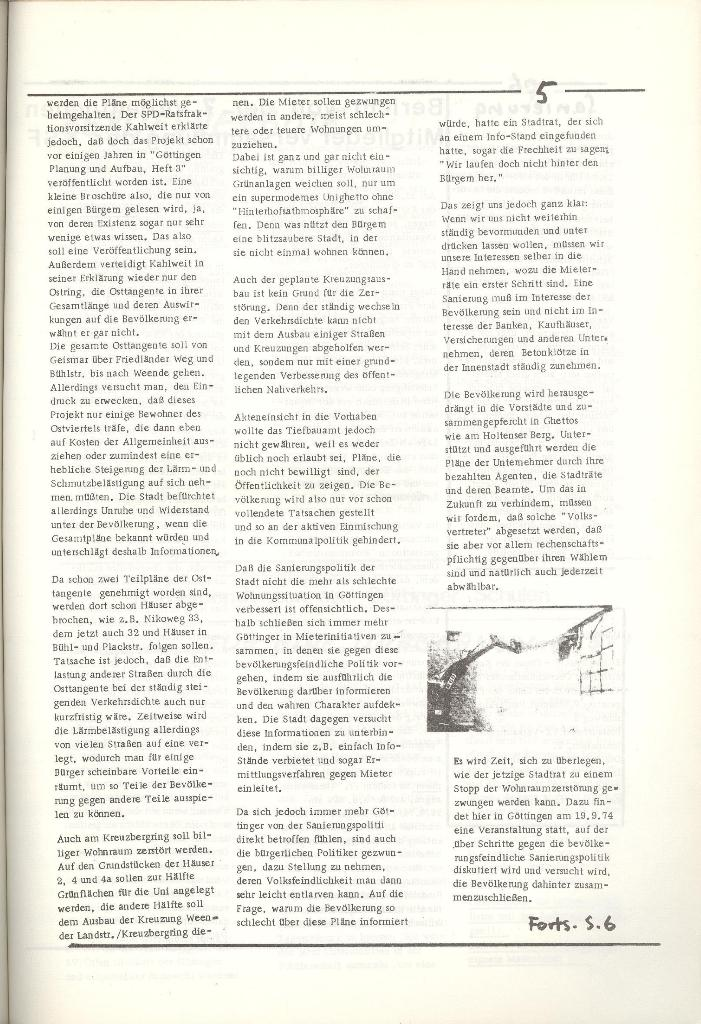 Organ des KOB Göttingen, Nr. 5, 1974, Seite 5