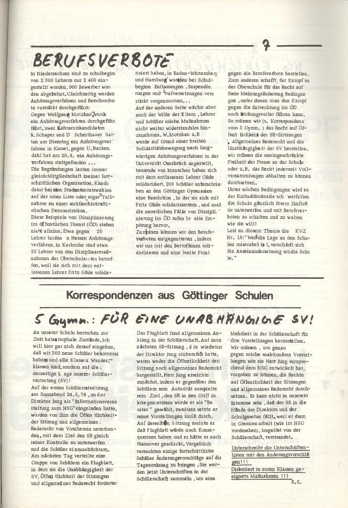 Organ des KOB Göttingen, Nr. 5, 1974, Seite 7