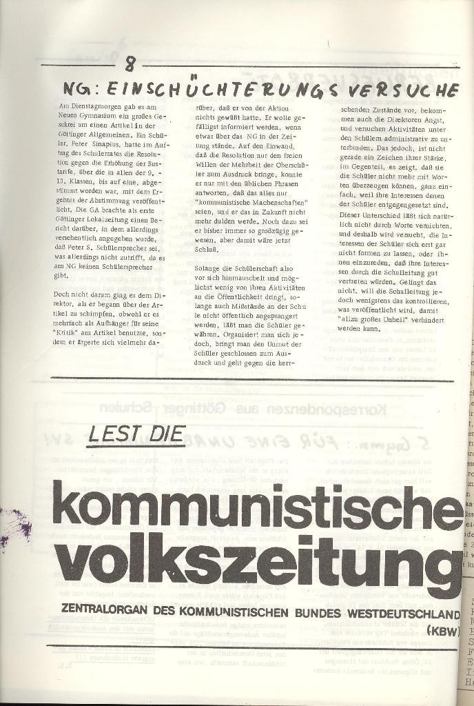 Organ des KOB Göttingen, Nr. 5, 1974, Seite 8
