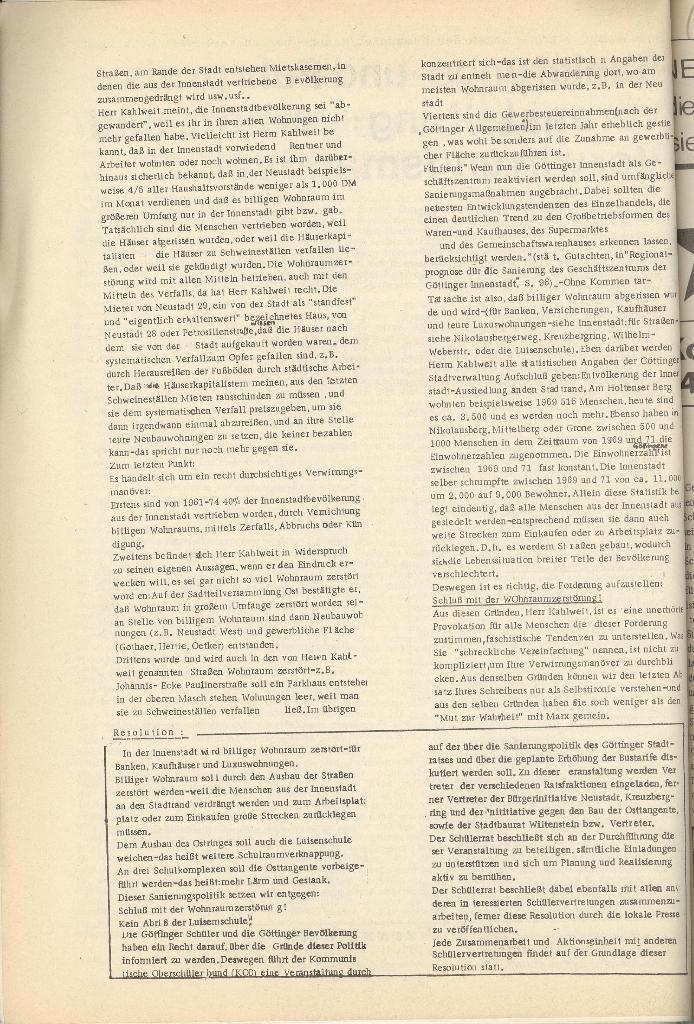 Organ des KOB Göttingen, Extra, Sanierungs_ ..., 1974, Seite 2