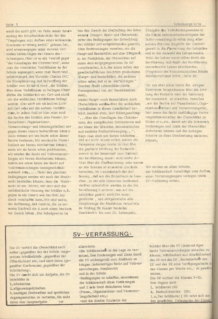 Organ des KOB Göttingen, Nr. 6, 1974, Seite 2