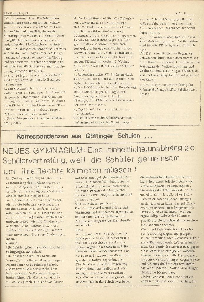 Organ des KOB Göttingen, Nr. 6, 1974, Seite 3