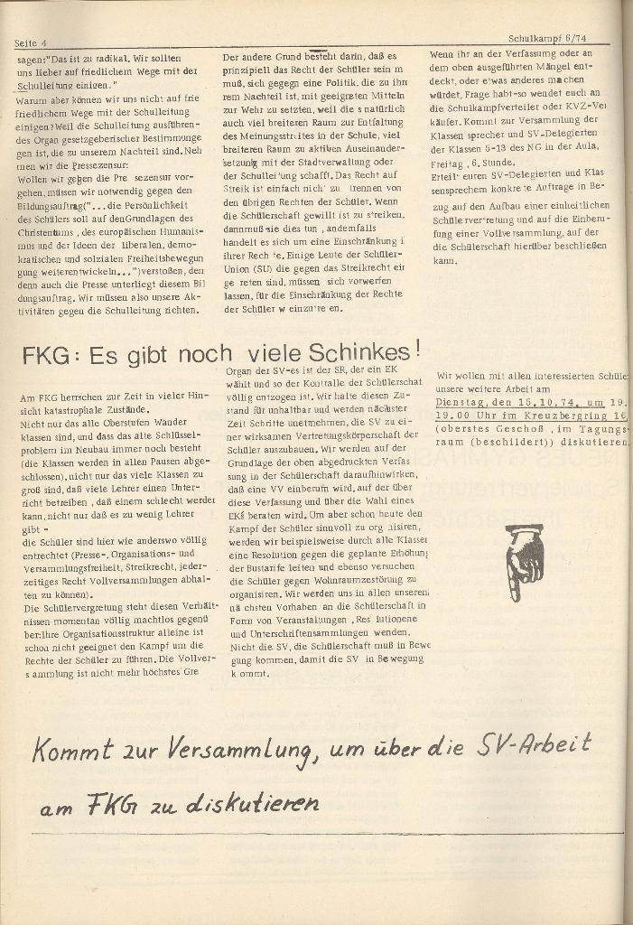 Organ des KOB Göttingen, Nr. 6, 1974, Seite 4