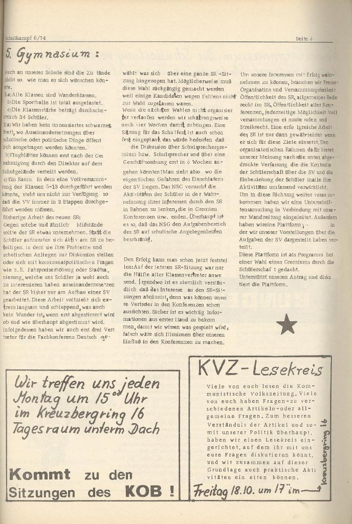 Organ des KOB Göttingen, Nr. 6, 1974, Seite 5