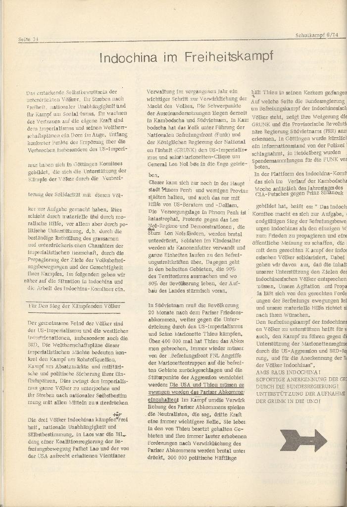 Organ des KOB Göttingen, Nr. 6, 1974, Seite 14