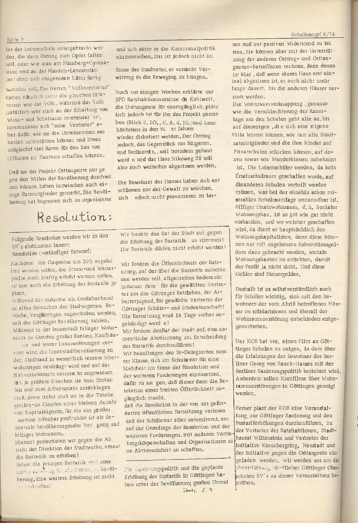 Organ des KOB Göttingen, Nr. 6, 1974, Seite 8