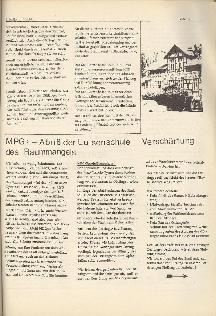 Organ des KOB Göttingen, Nr. 6, 1974, Seite 9