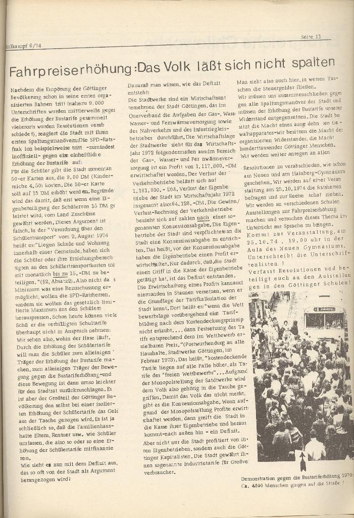 Organ des KOB Göttingen, Nr. 6, 1974, Seite 11