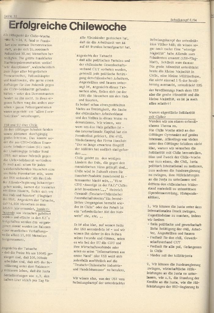 Organ des KOB Göttingen, Nr. 6, 1974, Seite 12