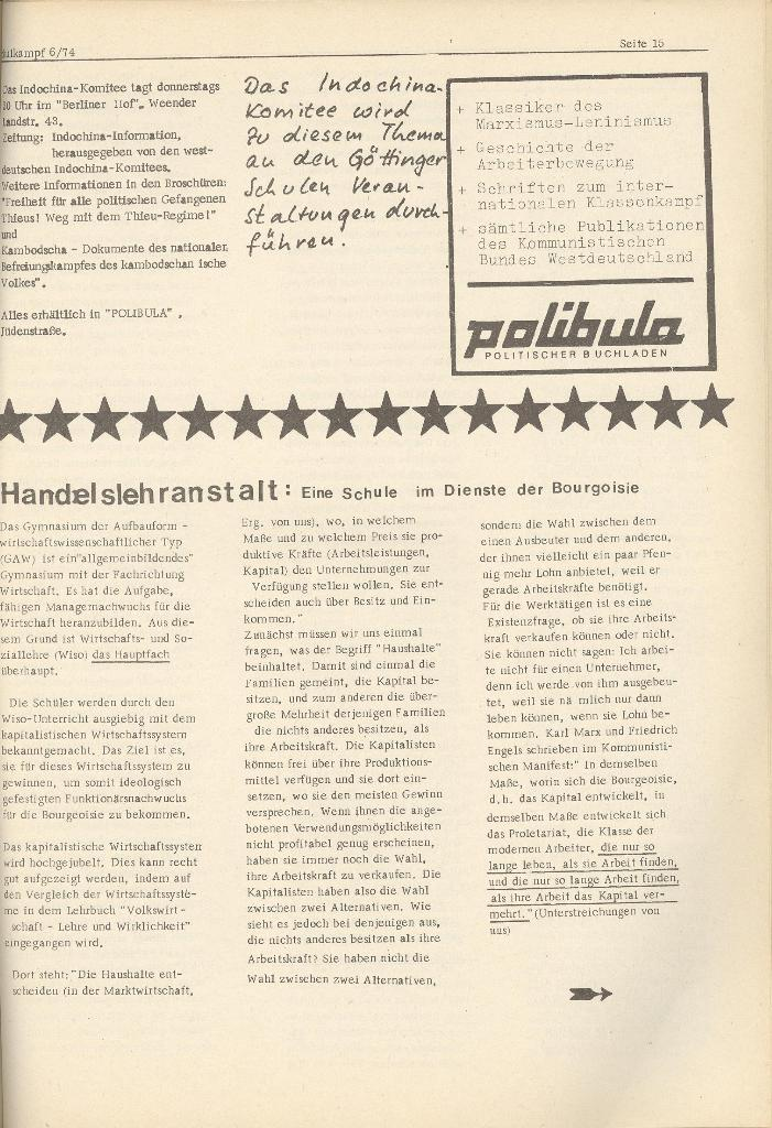 Organ des KOB Göttingen, Nr. 6, 1974, Seite 15