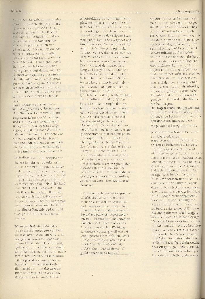 Organ des KOB Göttingen, Nr. 6, 1974, Seite 16