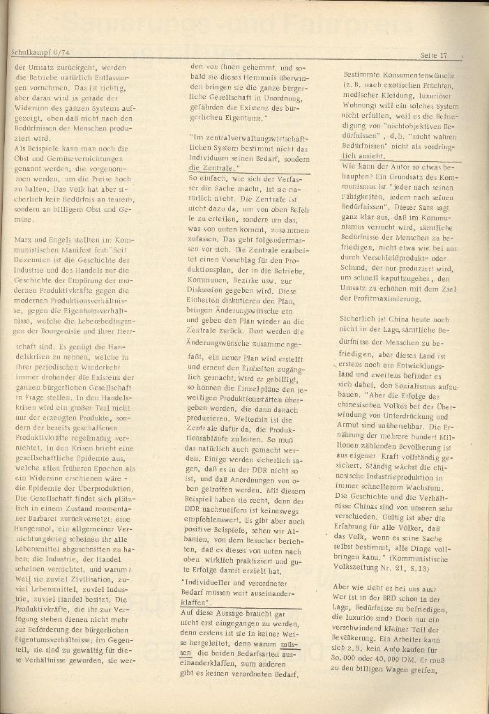 Organ des KOB Göttingen, Nr. 6, 1974, Seite 17
