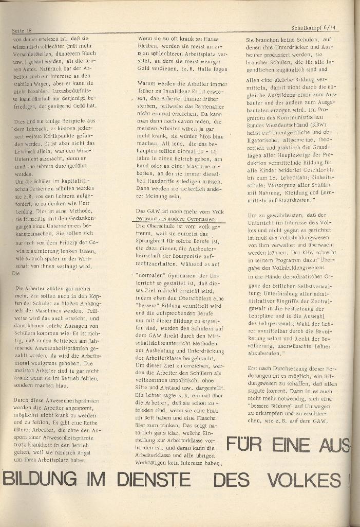Organ des KOB Göttingen, Nr. 6, 1974, Seite 18