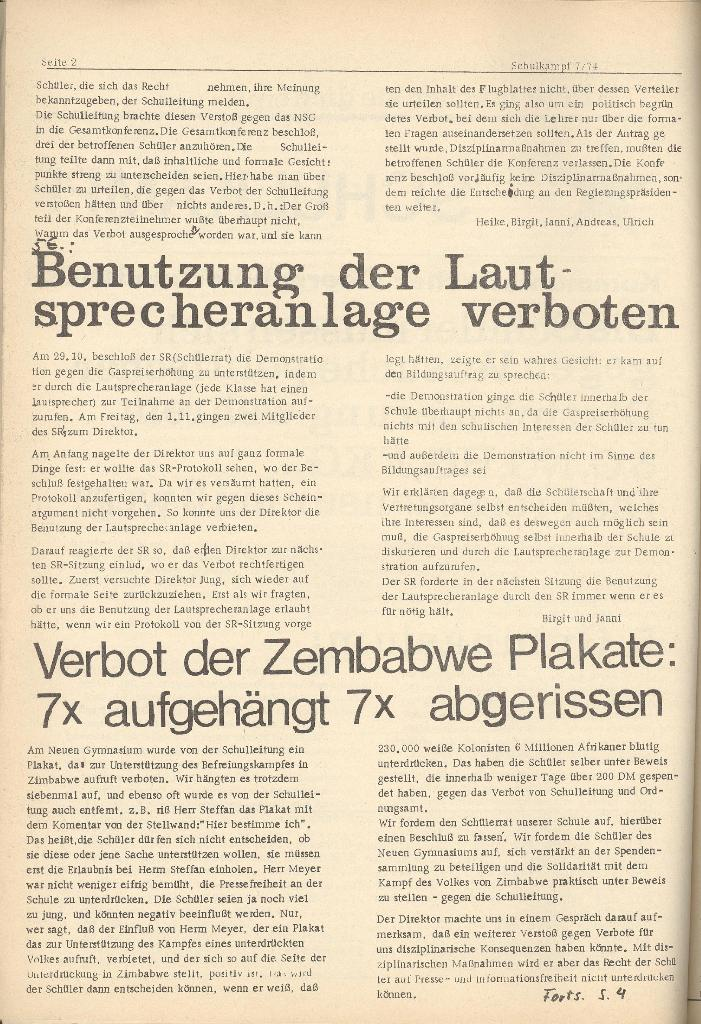 Organ des KOB Göttingen, Nr. 7, 1974, Seite 2
